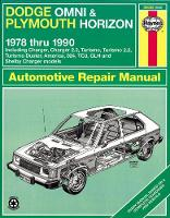 Gilmour, Bruce; etc. - Dodge Omni and Plymouth Horizon All Models 1978-90, Including Charger and Turismo, Automotive Repair Manual - 9781850107453 - V9781850107453
