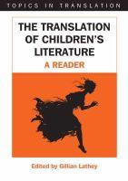 Lathey, Gillian - The Translation of Children's Literature - 9781853599057 - V9781853599057