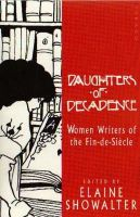 Showalter, Elaine - Daughters of Decadence - 9781853815904 - V9781853815904