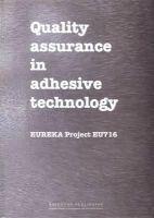 Espie, A.W.; Rogerson, J.H.; Ebtehaj, K. - Quality Assurance in Adhesive Technology - 9781855732599 - V9781855732599