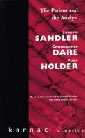 Sandler, Joseph; etc. - The Patient and the Analyst - 9781855750081 - V9781855750081