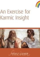 Steiner, Rudolf - An Exercise for Karmic Insight - 9781855841543 - V9781855841543
