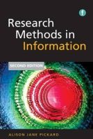 Pickard, Alison Jane - Research Methods in Information - 9781856048132 - V9781856048132