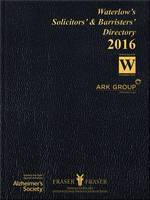 NA - Waterlow's Solicitors' and Barristers' Directory 2016 - 9781857832334 - V9781857832334