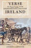 Carpenter, Andrew - Verse in English from Eighteenth-century Ireland - 9781859181041 - V9781859181041