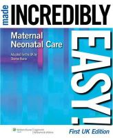 Nurse, Sharon - Maternal-neonatal Care Made Incredibly Easy! - 9781901831085 - V9781901831085