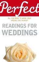 Law, Jonathan - Perfect Readings for Weddings (Perfect (Random House)) - 9781905211098 - KEX0233346