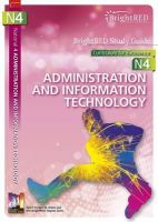 Sturrock, Jane - BrightRED Study Guide: National 4 Administration and IT: N4 - 9781906736453 - V9781906736453