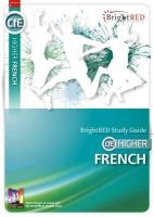 Kelso, Janette, McCartney, Lyn - BrightRED Study Guide CFE Higher French: CfE Higher - 9781906736620 - V9781906736620
