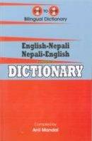 Anil Mandal - English-Nepali & Nepali-English One-to-One Dictionary. Script & Roman (Exam-Suitable) 2013 (Nepali Edition) - 9781908357632 - V9781908357632