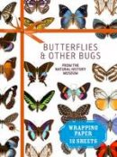 Natural History Museum, London - Butterflies & Other Bugs from the Natural History Museum: Wrapping Paper: 12 Sheets (Wrapping Paper Books) - 9781910258682 - V9781910258682