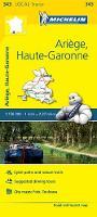 Michelin Travel & Lifestyle - Michelin FRANCE Ariège, Haute-Garonne Map 343 (Maps/Local (Michelin)) - 9782067210752 - V9782067210752