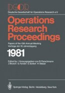- DGOR: Papers of the 10th Annual Meeting/Vorträge der 10. Jahrestagung (Operations Research Proceedings) (German and English Edition) - 9783540116301 - V9783540116301