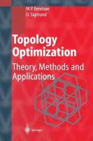 Bendsoe, Martin Philip, Sigmund, Ole - Topology Optimization: Theory, Methods, and Applications - 9783642076985 - V9783642076985
