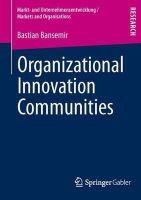 Bansemir, Bastian - Organizational Innovation Communities - 9783658013011 - V9783658013011