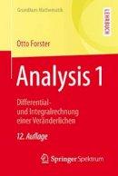 Forster, Otto - Analysis 1 - 9783658115449 - V9783658115449