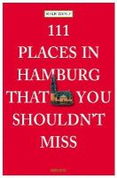 Wolf, Rike - 111 Places in Hamburg That You Shouldn't Miss - 9783954512348 - V9783954512348