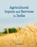Amutha, D. - Agricultural Inputs and Services in India - 9788177083934 - V9788177083934