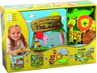 Globe Publishing - My Little Village: Zoo (Book, Wooden Toy & 16-piece Puzzle) - 9788778845795 - V9788778845795