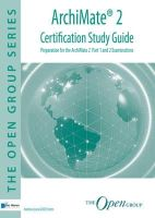 Andrew Josey and Bill Estrem - Archimate 2 Certification Study Guide - 9789401800020 - V9789401800020