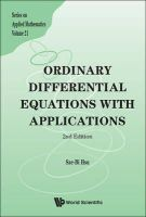 Sze-Bi Hsu - Ordinary Differential Equations with Applications (2nd Edition) (Series on Applied Mathematics) - 9789814452908 - V9789814452908