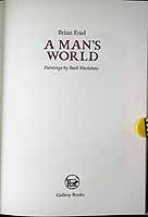 Friel, Brian - A Man's World.  Paintings by Basil Blackshaw -  - KCK0001294