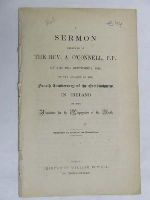 Rev.A.O'Connell - A Sermon Preached on the 19th of Sept 1842 on the occasion of the fourth Anniversary of the Establishment in Ireland -  - KDK0004815