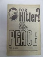Pat Sloan - FOR HITLER? OR FOR PEACE -  - KDK0005612