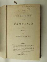Anon. - The History of the Campaign of 1796 in Germany and Italy -  - KEX0130055