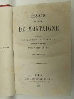 M. Villemain and P. Christian Michel de Montaigne - Essais de Michel de Montaigne -  - KEX0207985