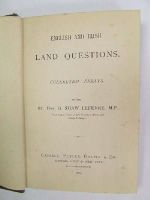 Eversley, G. Shaw-Lefevre - English and Irish land questions: collected essays -  - KEX0243544