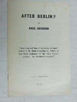Basil Davidson - After berlin? -  - KEX0267444