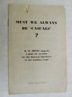 D M Jones - Must we always be Casuals? -  - KEX0268256