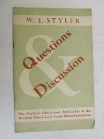 Styler, W E - Questions and Discussion. -  - KEX0268258