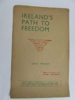 Seam Murry - Irelands path to freedom: Manifesto ... adopted at the Inaugural Congress, June 3 and 4 1933 -  - KEX0269620