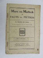 De Leon, Daniel - Marx on Mallock, or, Facts vs. fiction -  - KEX0270607