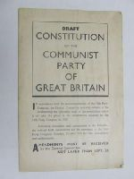 - Draft Constitution of the Communist Party of Great Britain -  - KEX0270616