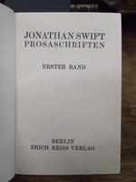 Swift, Jonathan - Prosaschriften. 2 Bände (von 4). Herausgegeben, eingeleitet und kommentiert von Felix Paul Greve. -  - KEX0274318