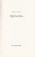 Deane, John F. - High Sacrifice - 9780851053820 - KEX0274679