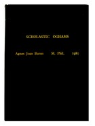 Agnes Joan Burns - Scolastic Oghams -  - KEX0282868
