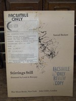 Beckett, Samuel - Stirrings Still Illustrated by Louis Le Brocquy -  - KEX0283940