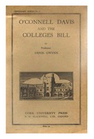 Gwynn, Denis - O'Connell, Davis, and the colleges bill (Centenary series) -  - KEX0286109