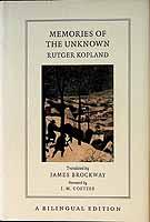rutger-kopland-james-brockway-j-m-coetzee - Memories Of The Unknown - 9781860468957 - KEX0303455