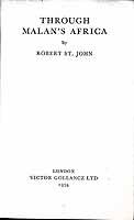 St John, Robert - Through Malan's Africa -  - KEX0304123