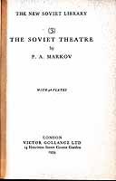 Markov, P. A. - The Soviet Theatre -  - KEX0304218