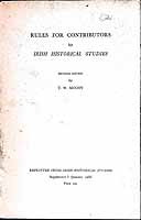 T W Moody - Rules for Contributors to Irish Historical Studies -  - KEX0304830