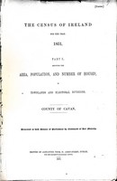 - The census of ireland for the year 1851 Part 1 Showing the area population and number os Houses... -  - KEX0309110