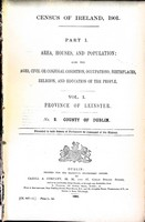 - Census of Ireland 1901 County of dublin Province of leinster Area, Houses, and population also the Ages, Civil or Conjucal condition, Occupations.. -  - KEX0309126