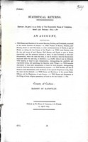 W. Shaw Mason - Barony of Rathvilly County of carlow : An Account containing The Names and Numbers of the Several baronies Parishes and Townlands conties of Ireland  The Numbers of Houses Families and Persond found in each Townland -  - KEX0309151