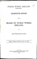 - Eighteenth Report from the Bord og Public Works Ireland with Appendices. -  - KEX0309181